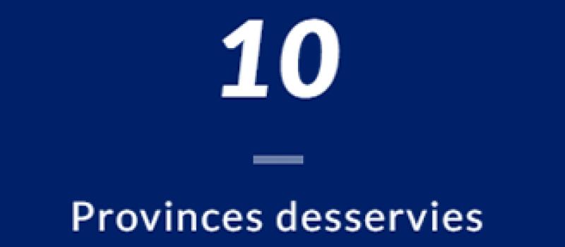 Dix Provinces avec opérations